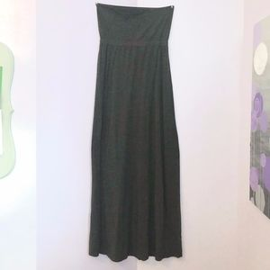 Splendid Dark Gray Strapless Maxi Dress M